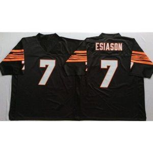 Boomer Esiason Black Throwback Stitched Jersey